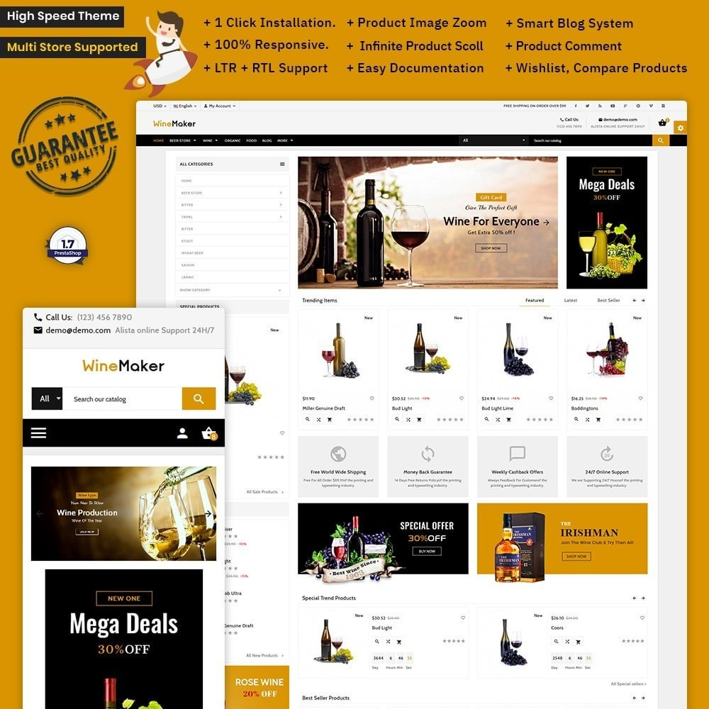 theme - Bebidas & Tabaco - Wine Maker – Wine Big Shop - 1