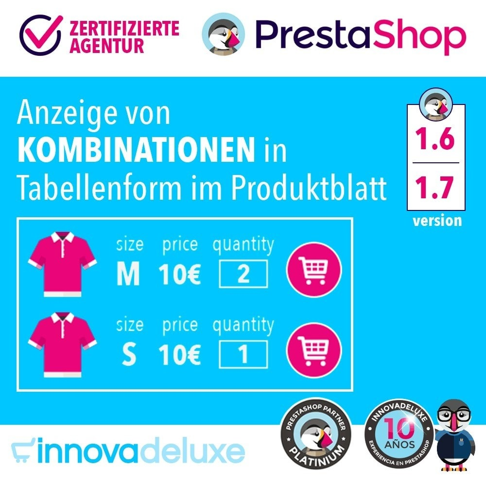 module - Bundels & Personalisierung - Produktdatenblatt mit Kombinationstabelle - 1
