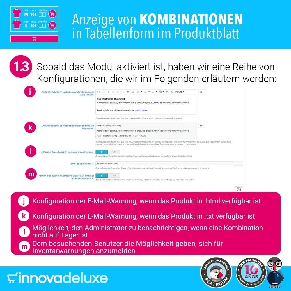 module - Bundels & Personalisierung - Produktdatenblatt mit Kombinationstabelle - 4