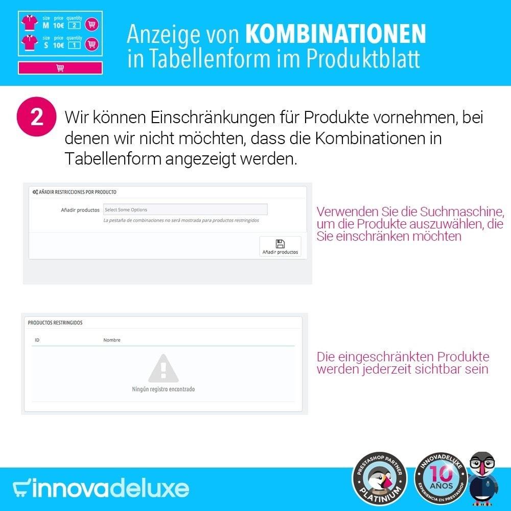 module - Bundels & Personalisierung - Produktdatenblatt mit Kombinationstabelle - 5