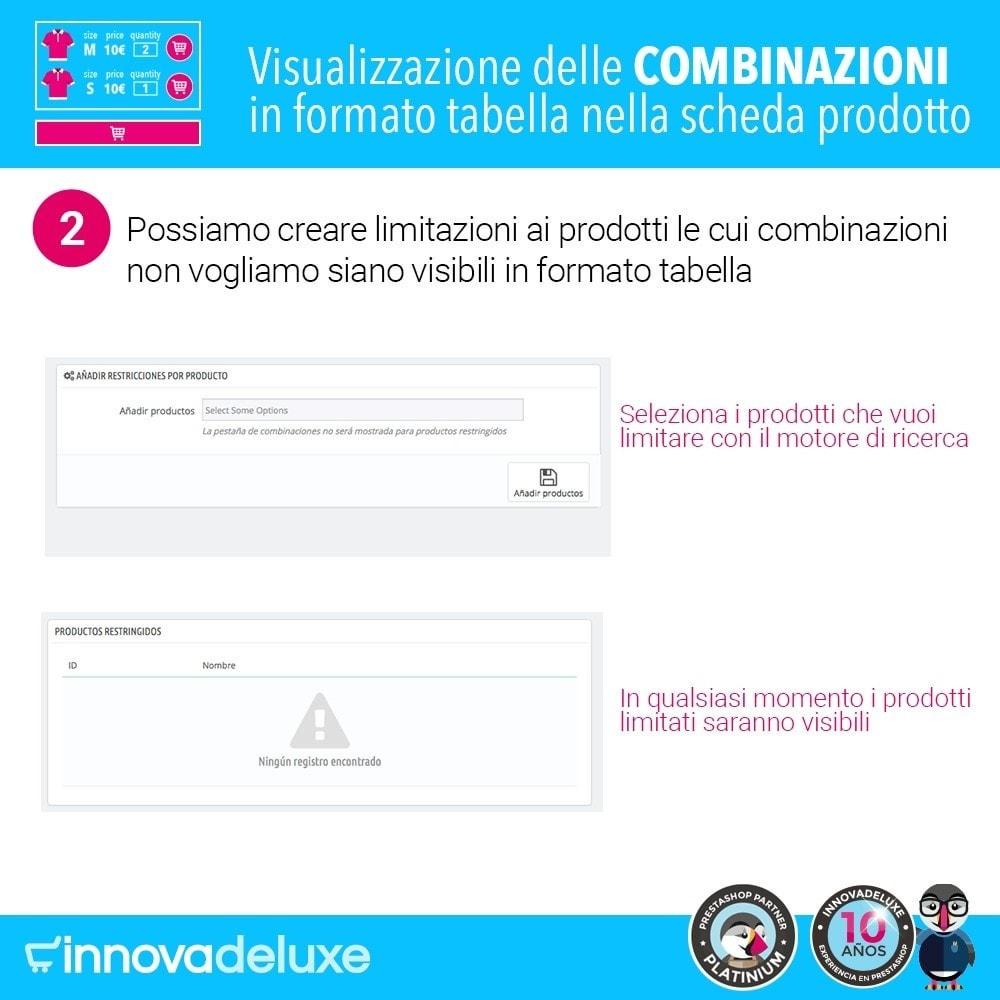 module - Combinazioni & Personalizzazione Prodotti - Scheda prodotto con tabella combinazioni - 5