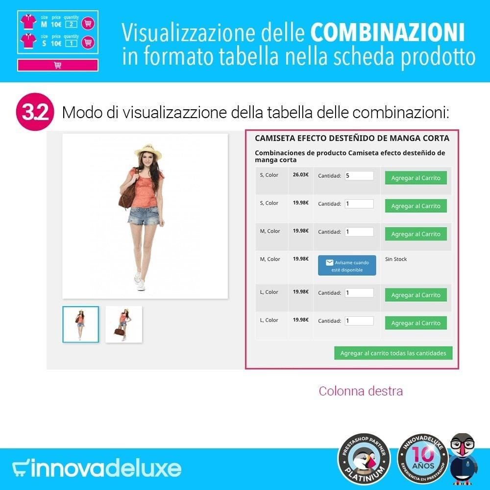 module - Combinazioni & Personalizzazione Prodotti - Scheda prodotto con tabella combinazioni - 7