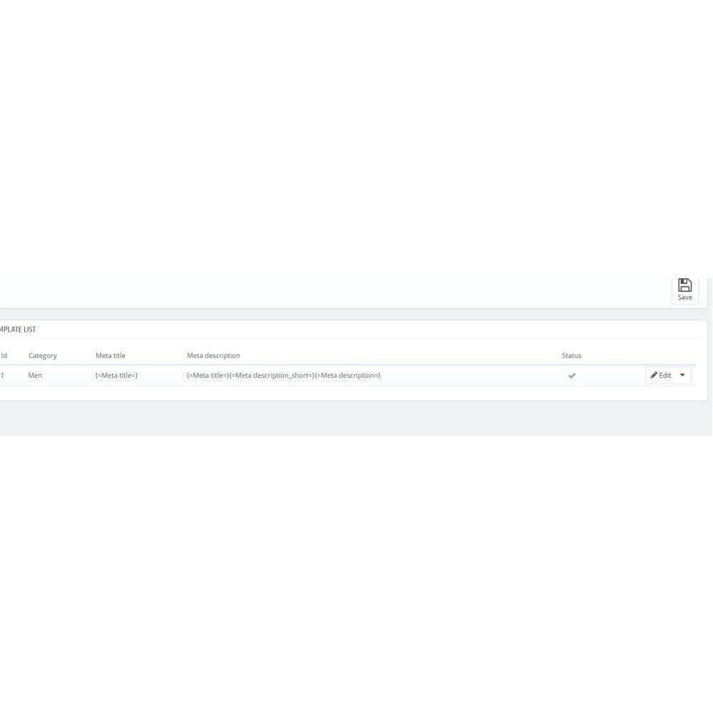 module - SEO - Mass edit product Meta Tag for SEO - 3