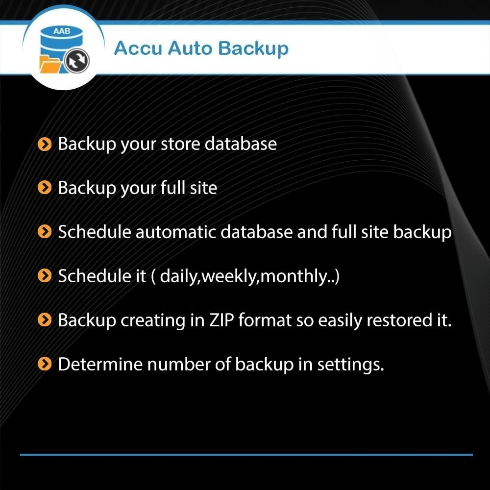 module - Data Migration & Backup - Accu Auto Backup - 1