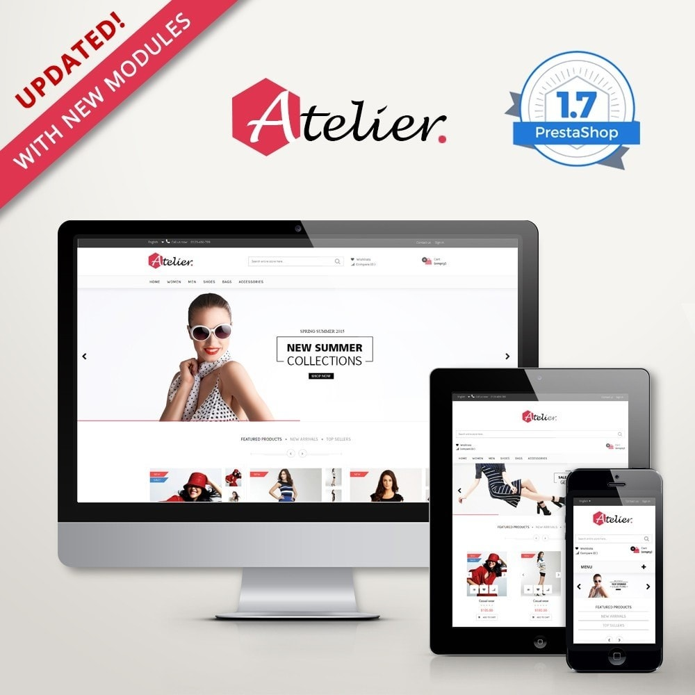 theme - Мода и обувь - Atelier Fashion Multipurpose HTML5 - 1
