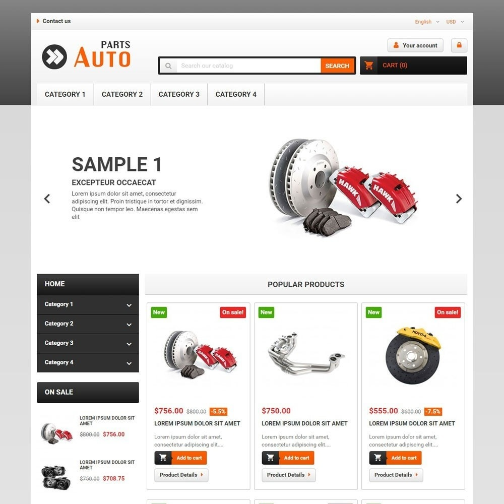 theme - Carros & Motos - AutoParts - 1
