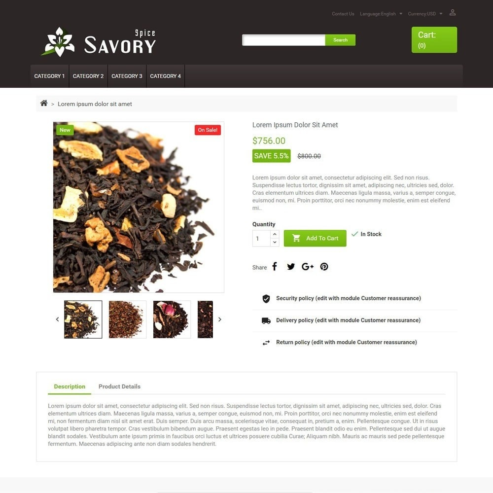 theme - Food & Restaurant - SavorySpice - 3