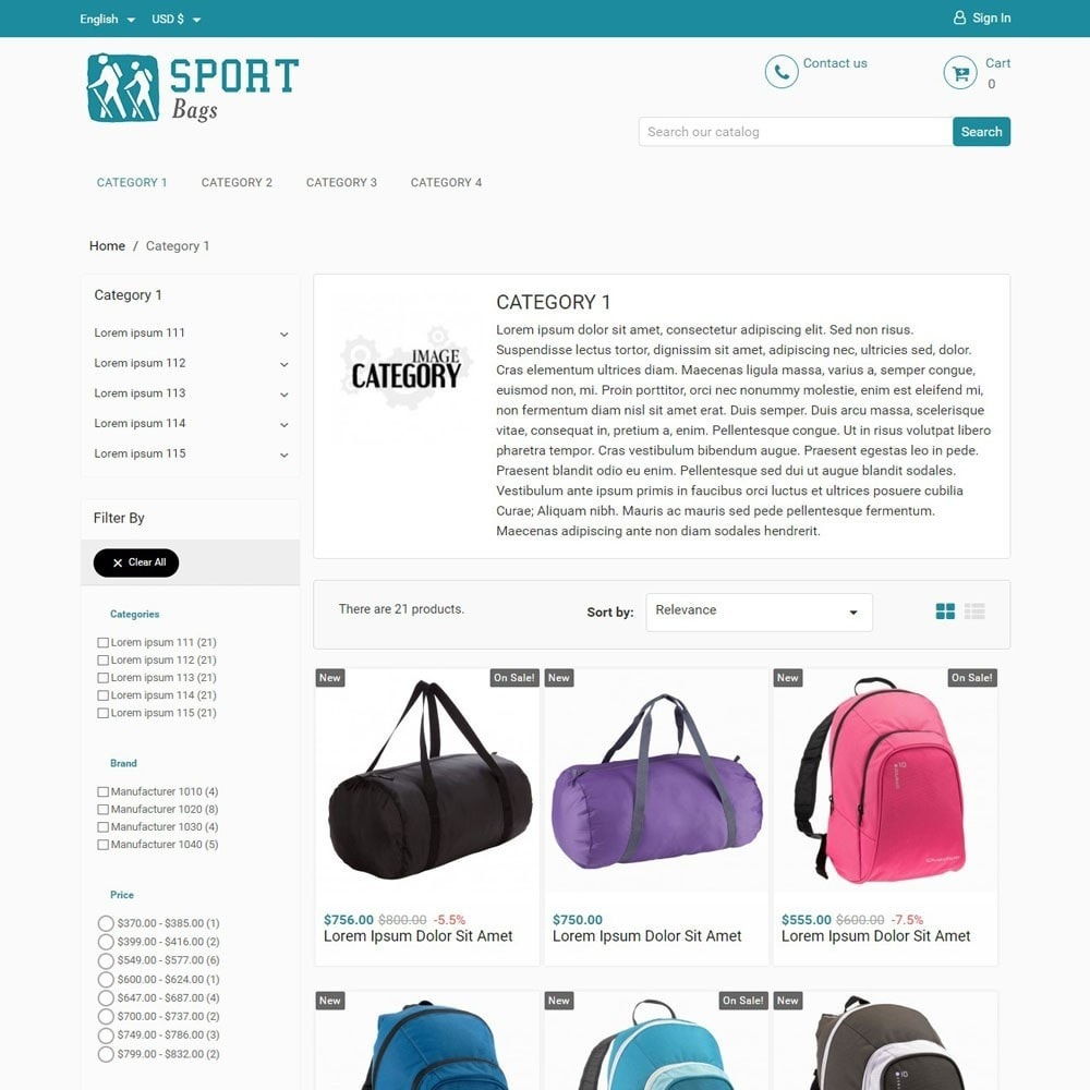 theme - Sports, Activities & Travel - SportBags - 2