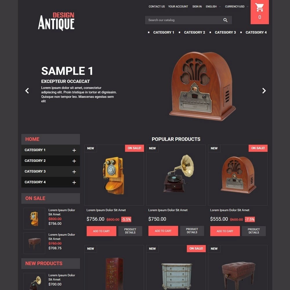theme - Kunst & Kultur - AntiqueDesign - 1