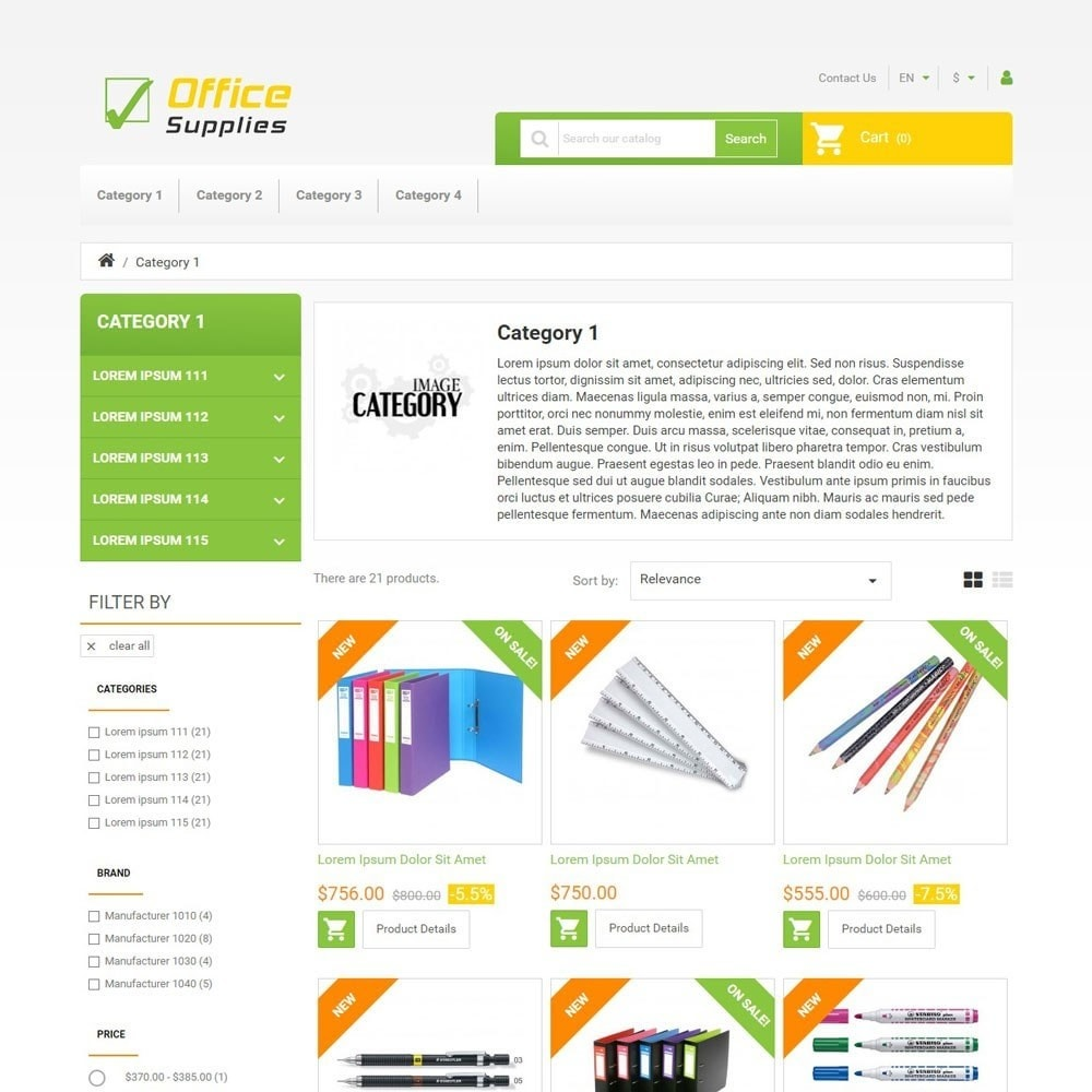 theme - Arte e Cultura - OfficeSupplies - 2