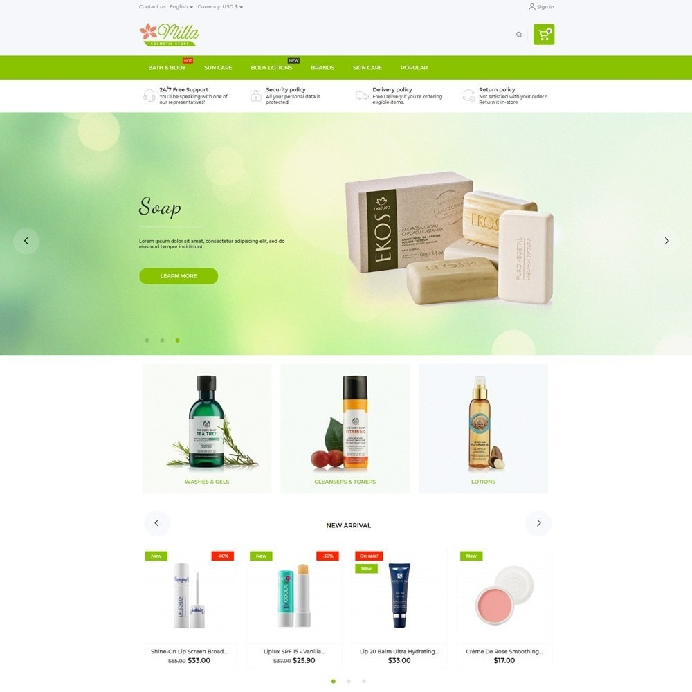 theme - Health & Beauty - Milla Cosmetics - 2