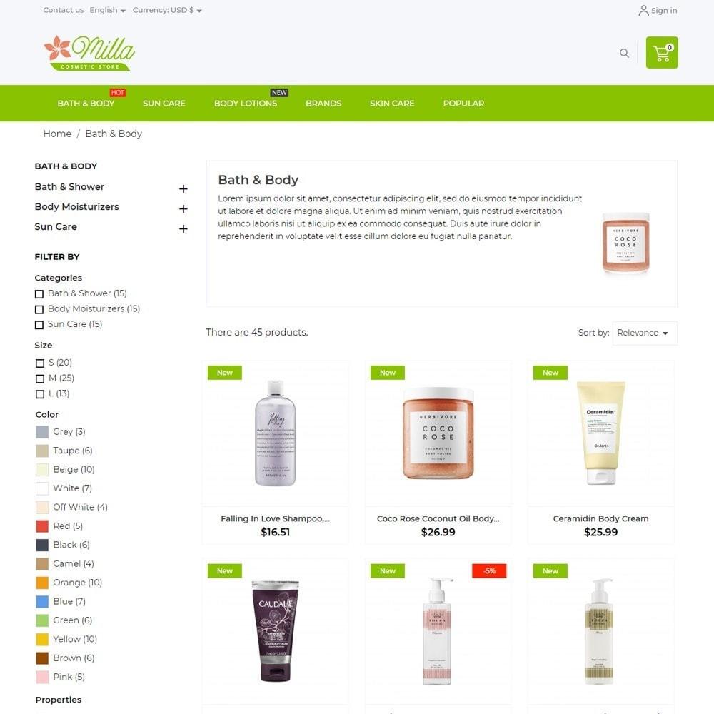theme - Health & Beauty - Milla Cosmetics - 6