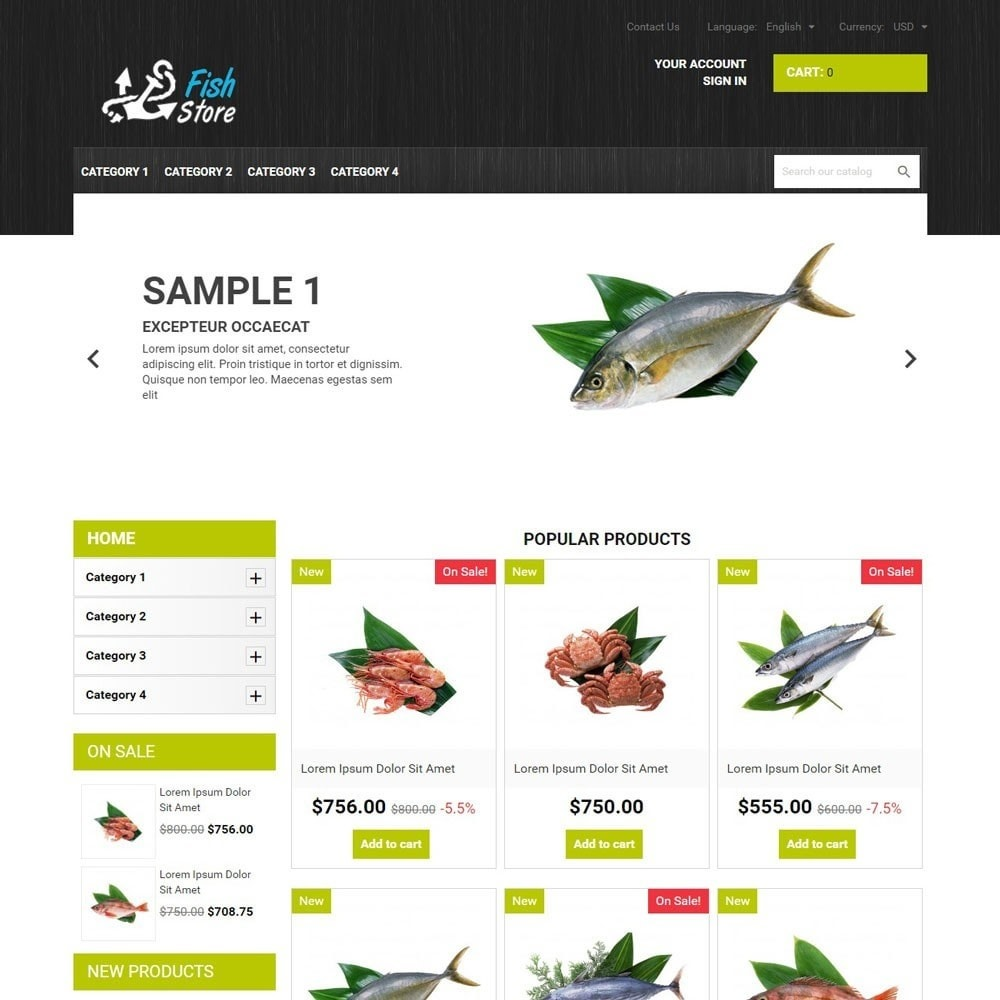 theme - Eten & Restaurant - FishStore - 1
