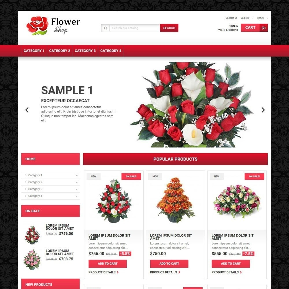 theme - Cadeaux, Fleurs et Fêtes - FlowerShop - 1