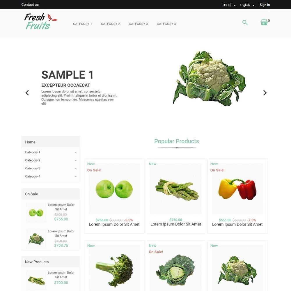 theme - Alimentos & Restaurantes - FreshFruits - 1