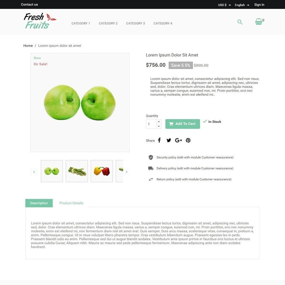 theme - Alimentos & Restaurantes - FreshFruits - 3
