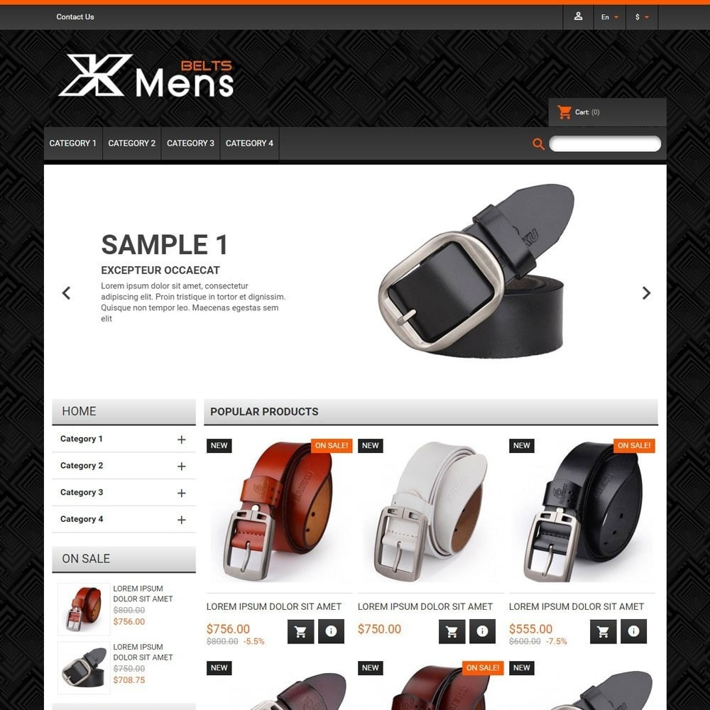 theme - Mode & Chaussures - MensBelts - 1