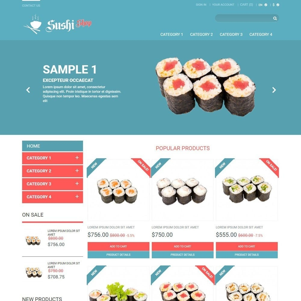 theme - Alimentation & Restauration - SushiShop - 1