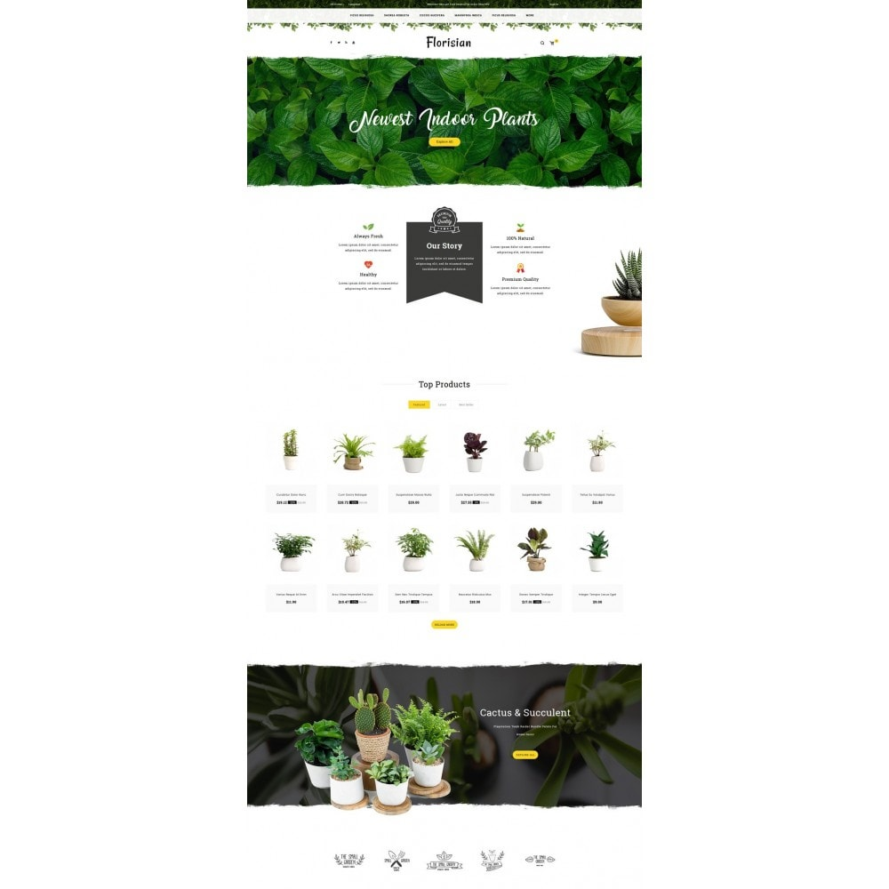 theme - Presentes, Flores & Comemorações - Florisian - Plant Shop - 2