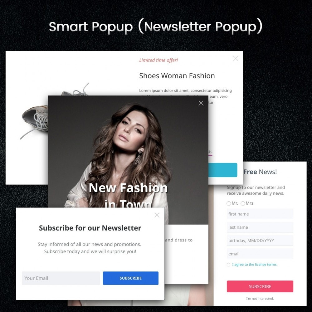 module - Promotions & Gifts - Smart Popup (Newsletter Popup) - 2
