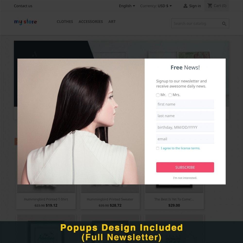 module - Promotions & Cadeaux - Popup Intelligent (Bulletin Popup) - 18