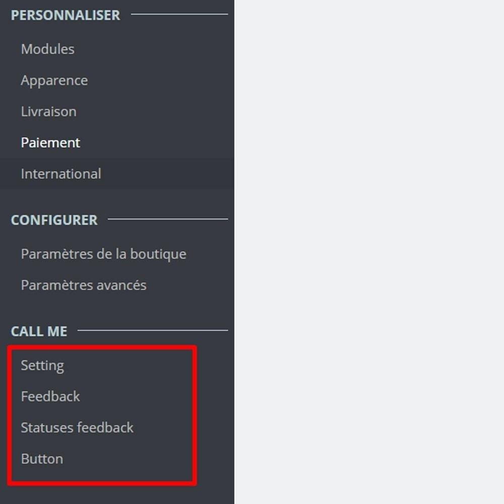 module - Support & Chat Online - Appelez-moi - Module de rappel - 2