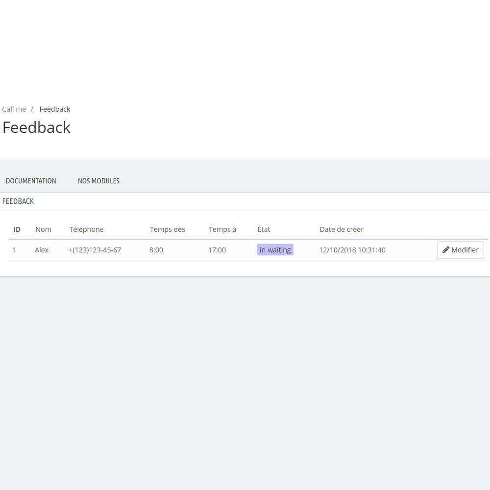 module - Support & Chat Online - Appelez-moi - Module de rappel - 7