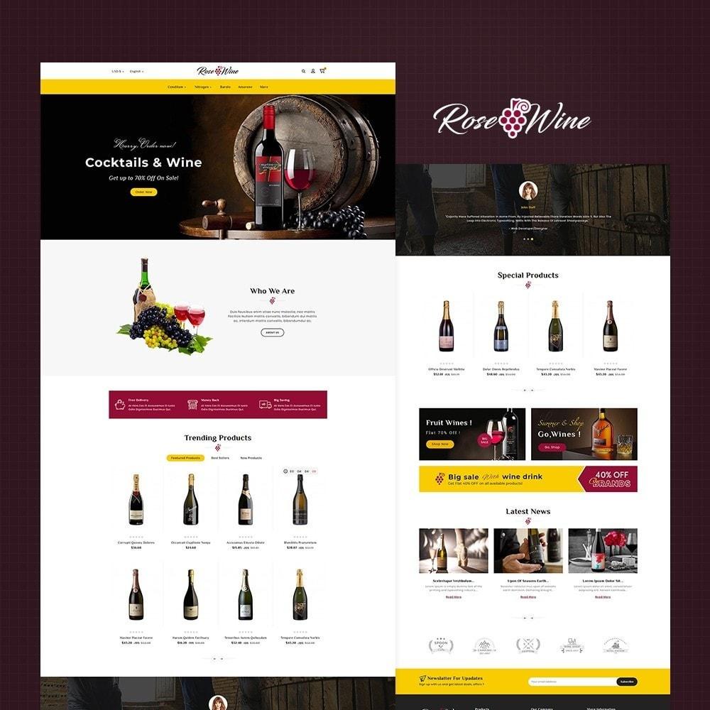 theme - Drink & Wine - Rose Wine Store - 2