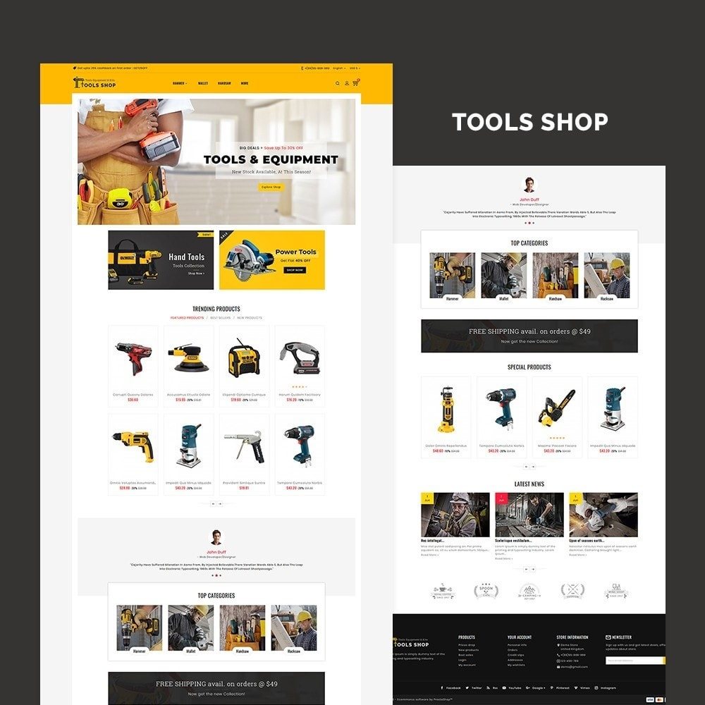 theme - Home & Garden - Tools Equipment Shop - 2