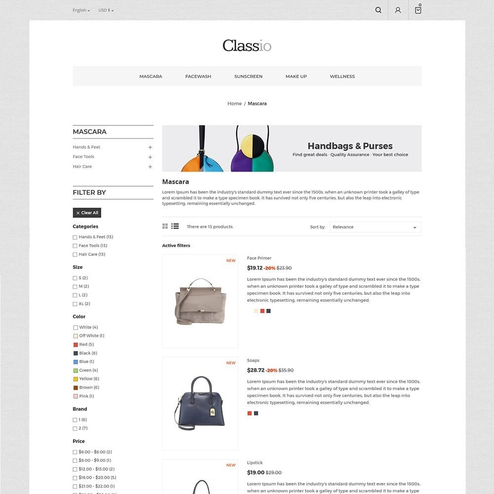 theme - Mode & Chaussures - Classio Bag - Magasin de mode - 5