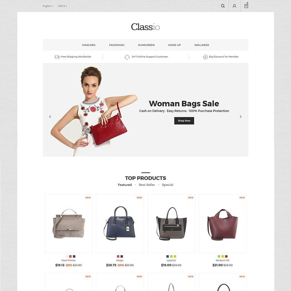 theme - Мода и обувь - Сумка Classio - магазин мод - 3