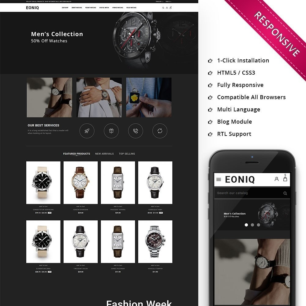 theme - Electronics & Computers - Eoniq - The Watch Store - 1