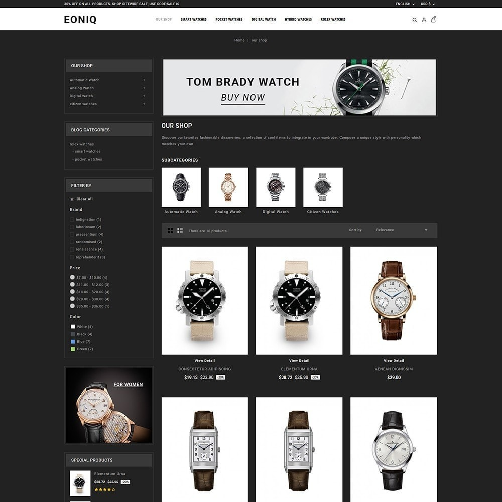 theme - Electronics & Computers - Eoniq - The Watch Store - 4