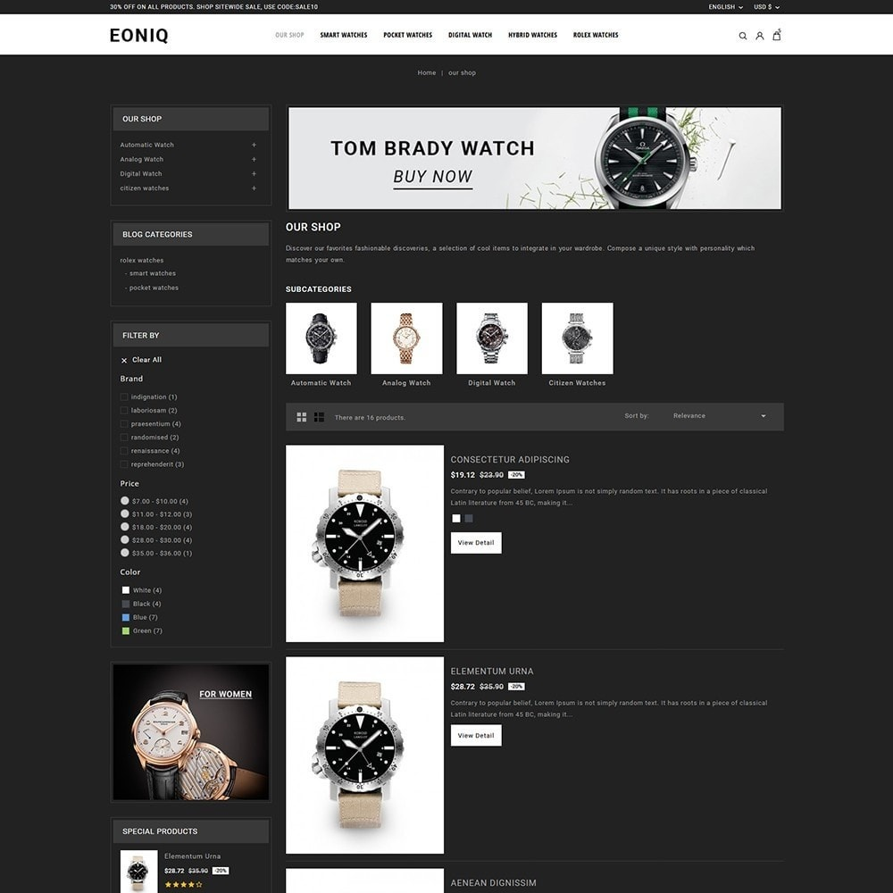 theme - Electronics & Computers - Eoniq - The Watch Store - 5