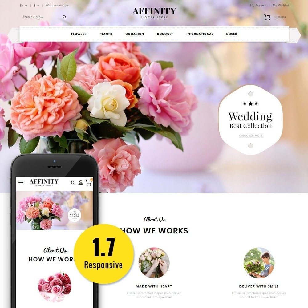 theme - Gifts, Flowers & Celebrations - Affinity Flower Store - 1