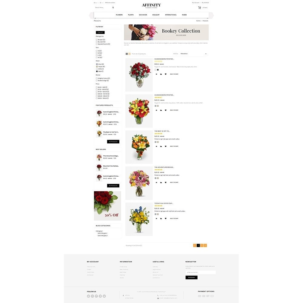 theme - Gifts, Flowers & Celebrations - Affinity Flower Store - 4
