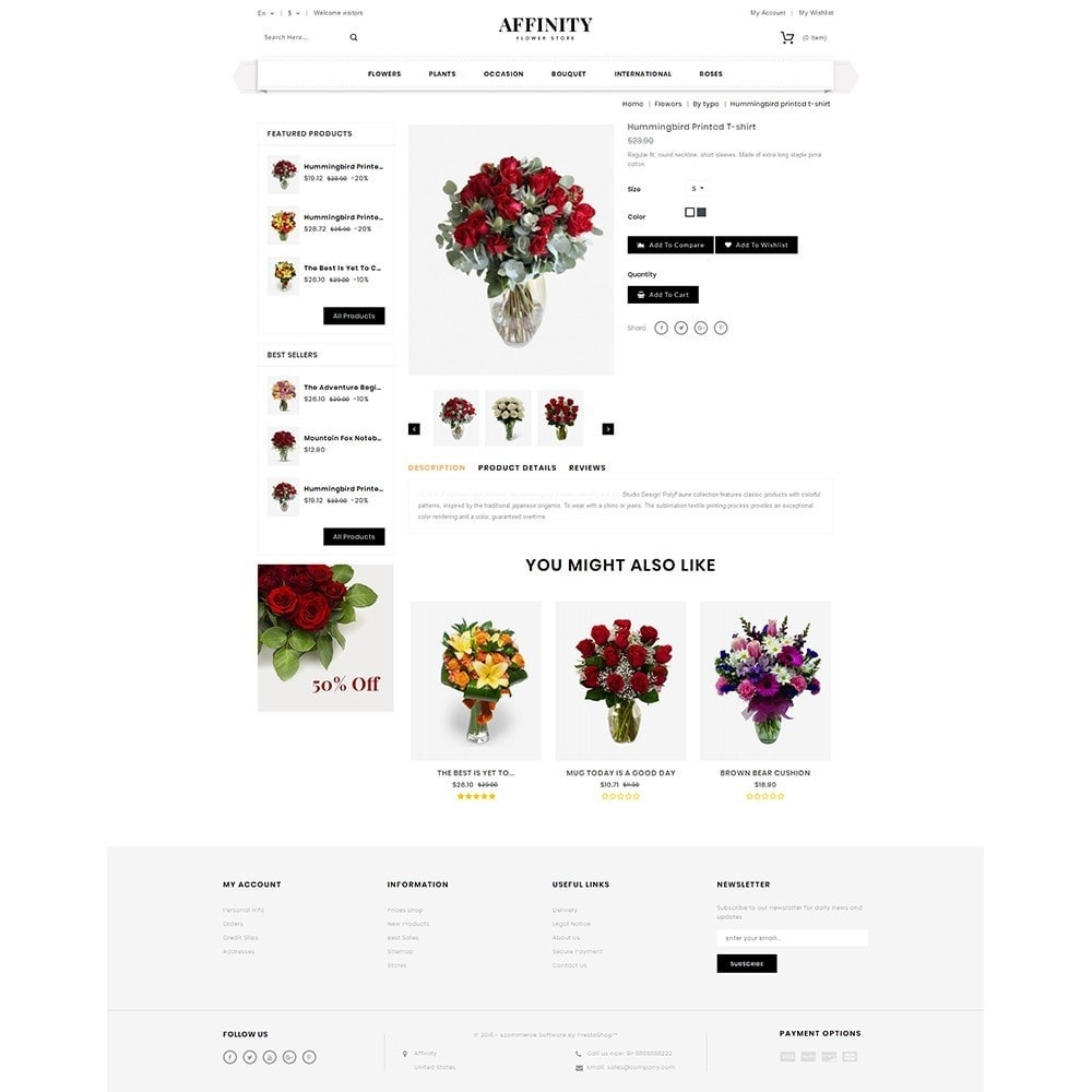 theme - Gifts, Flowers & Celebrations - Affinity Flower Store - 5