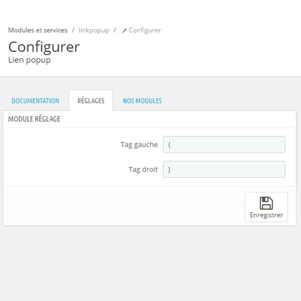 module - Information supplémentaire & Onglet produit - Module Custom Tooltip - 4