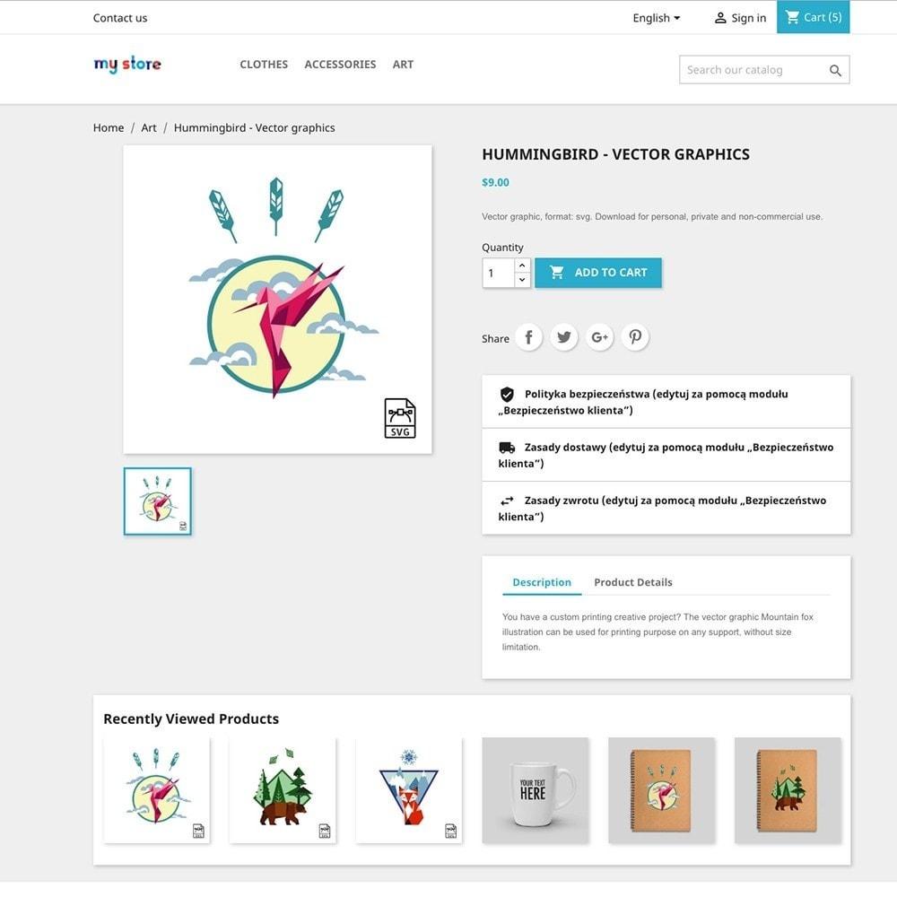 module - Dodatkowe informacje & Zakładka produktu - Ostatnio Oglądane Produkty - 3