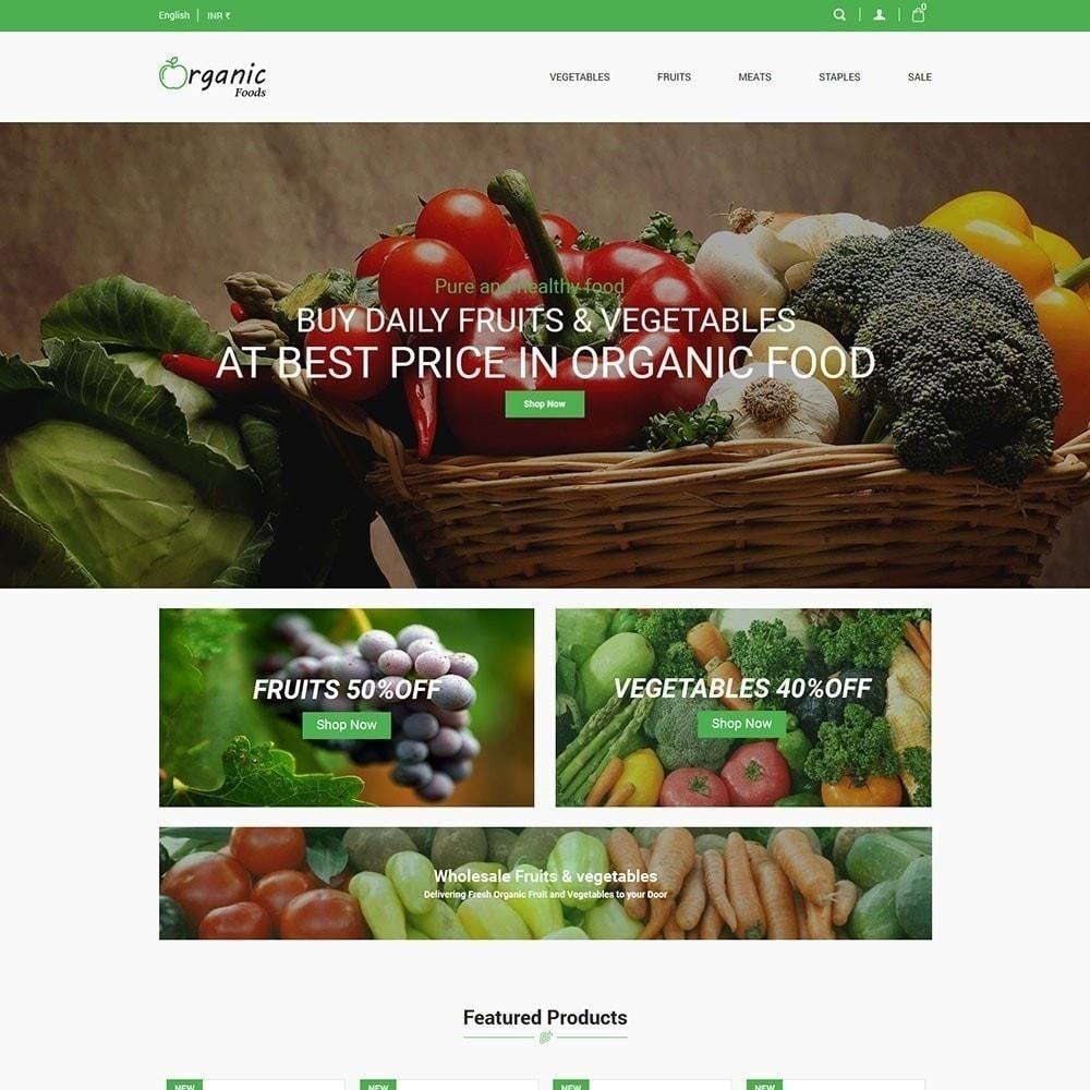 theme - Alimentation & Restauration - Magasin d'aliments biologiques - 3