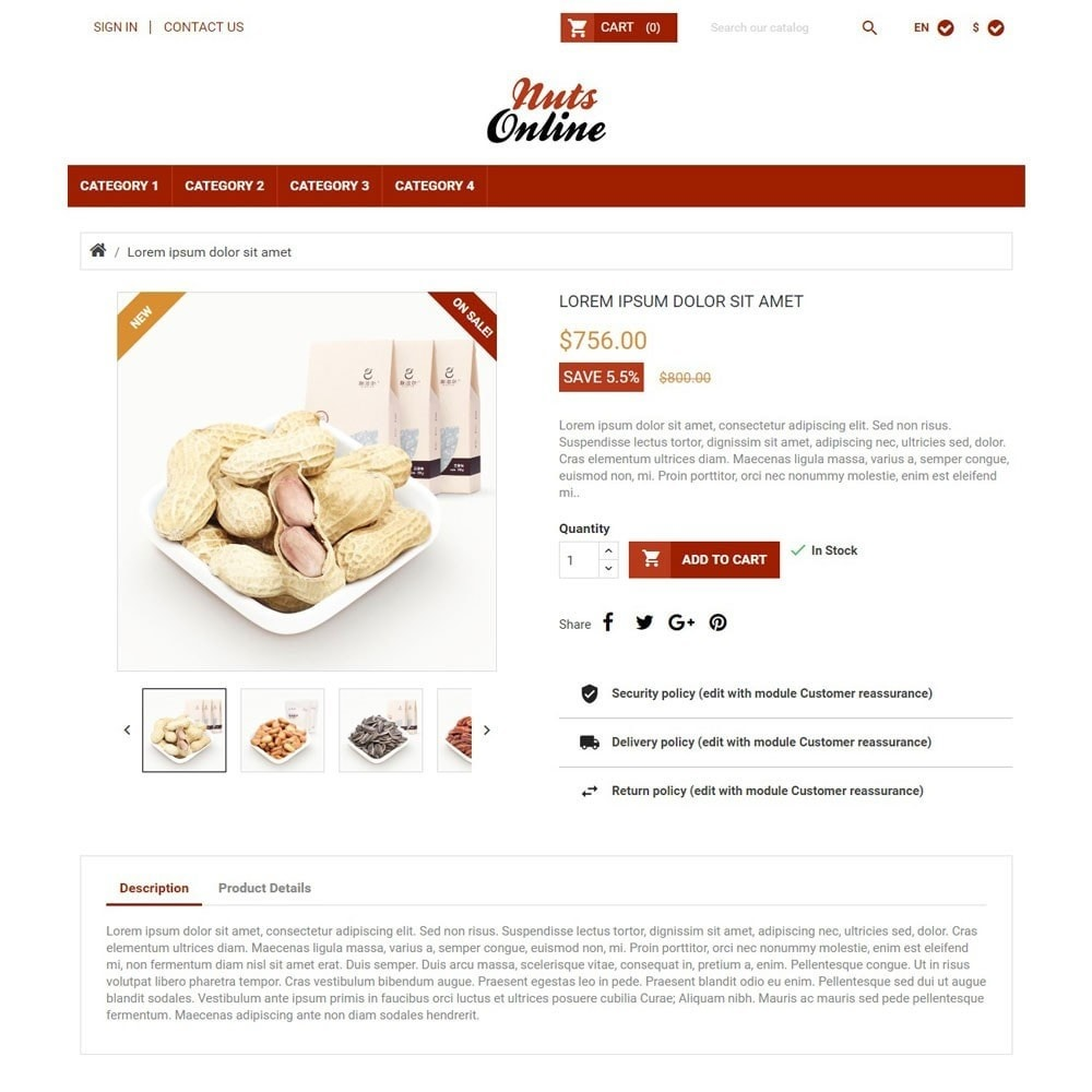 theme - Żywność & Restauracje - NutsOnline - 3