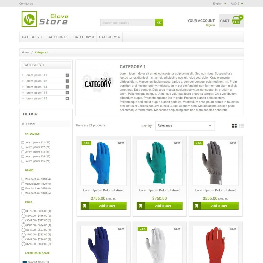 theme - Sports, Activities & Travel - GloveStore - 2
