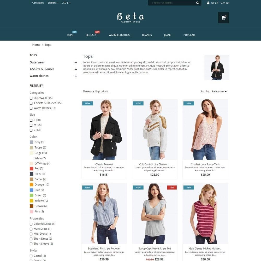 theme - Fashion & Shoes - Beta Fashion Store - 5