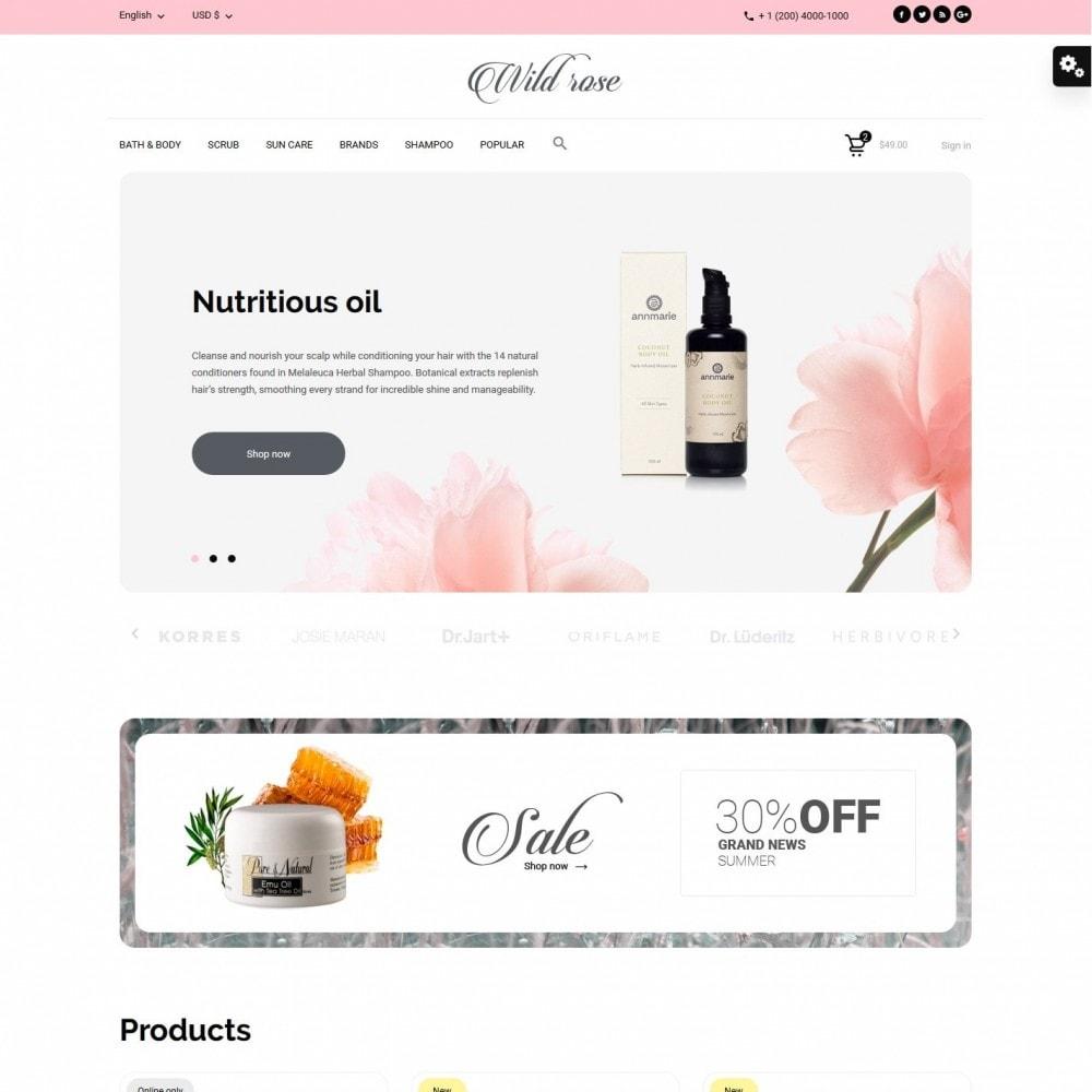 theme - Health & Beauty - Wild rose Cosmetics - 2