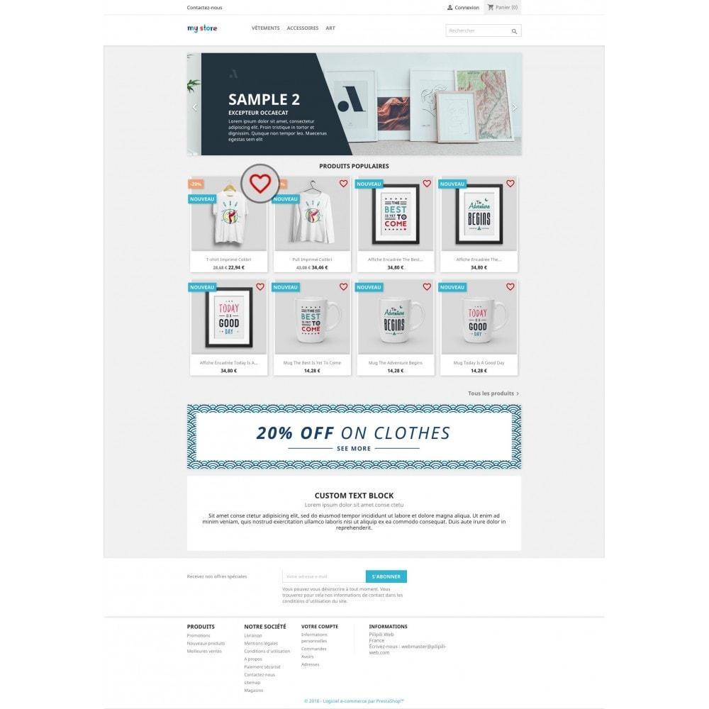 module - Information supplémentaire & Onglet produit - Liste de vos produits favoris / wishlist - 3