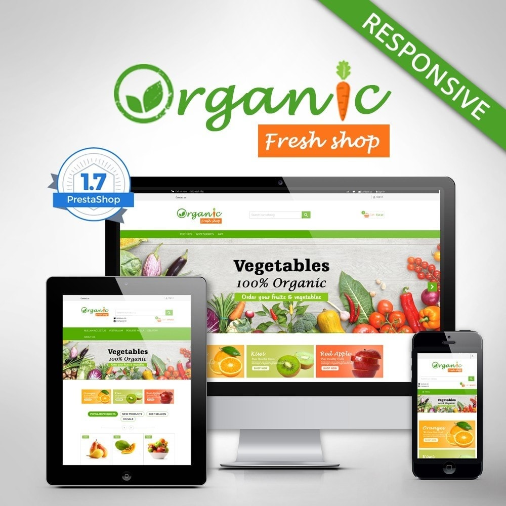 theme - Eten & Restaurant - Organic Fresh Naturals Multipurpose HTML5 - 1