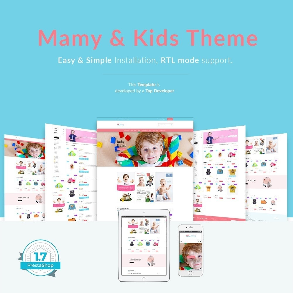 theme - Kids & Toys - Mamy and Kids - 1