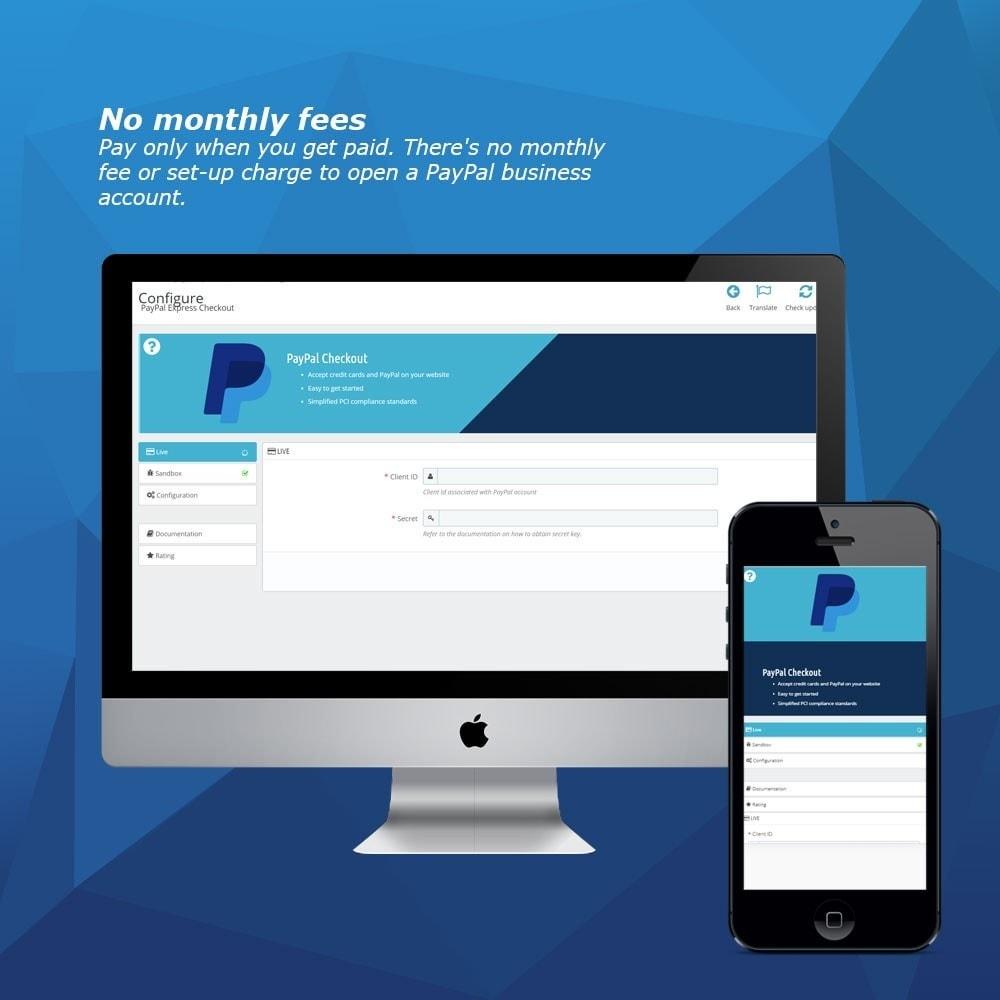 module - Pagamento por cartão ou por carteira - PayPal Express Checkout - 2