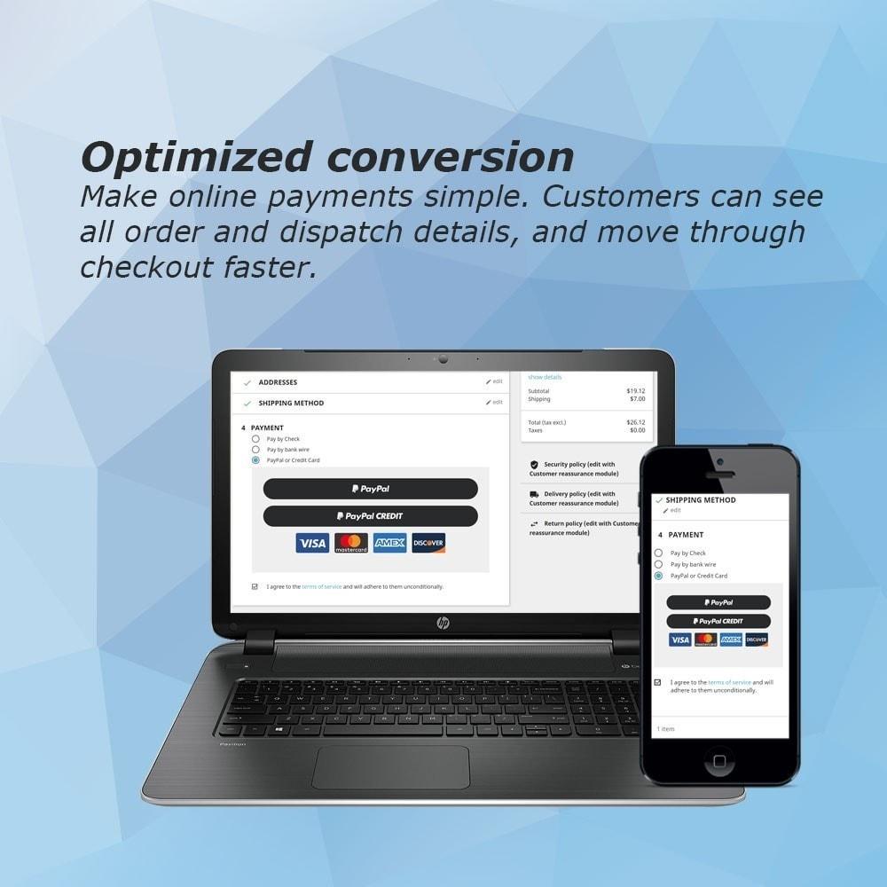 module - Pagamento por cartão ou por carteira - PayPal Express Checkout - 3