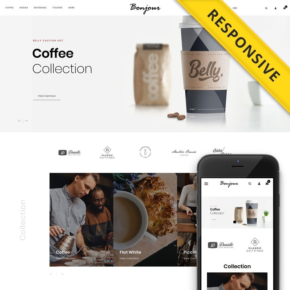 theme - Cibo & Ristorazione - Bonjour - Coffee Store - 1
